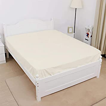 Italian Finish Fitted Sheet fits Upto 9 deep Pocket Mattress Cal-King Size Exotic linen 1 PC Bedding Fitted Sheet 400 TC 100/% Cotton Super Soft Long Staple Sage Stripe