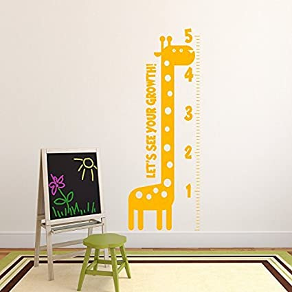 Amazon.com: Nursery Vinyl Wall Art Decal - Let\'s See Your Growth ...