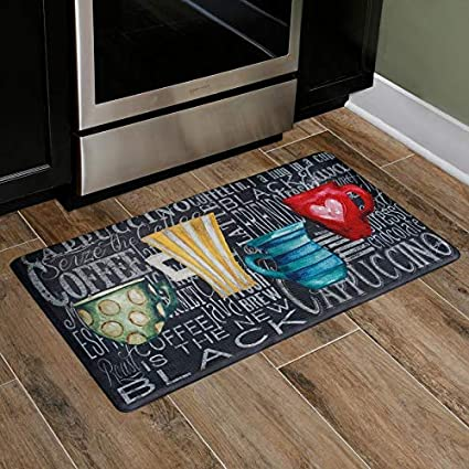Home Dynamix Cook N Comfort Coffee Mugs Embossed Cushioned Anti-Fatigue  Kitchen Mat, 19.6\