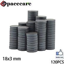 SPACECARE Round Ceramic Ferrite Multiple Use - 1/2 Inch x 1/8 Inch (12mmx3mm),150 Per Box