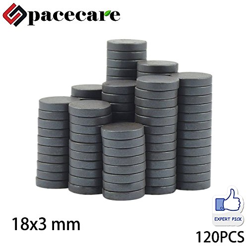 SPACECARE Round Ceramic Ferrite Multiple Use - 7/10 Inch x 1/8 Inch (18mmx3mm), 120 Per Box
