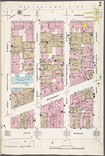 Map Poster - Manhattan, V. 4, Plate No. 2 [Map bounded by 6th Ave., W. 28th St., 5th Ave., W. 25th St.] 18