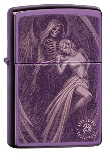 Price comparison product image Zippo High Polish Purple Anne Stokes Pocket Lighter