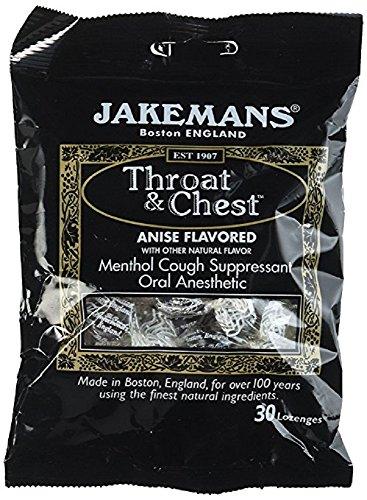 Lozenge 30 Lozenges (Jakemans - Throat & Chest Menthol Cough Suppressant Lozenges Anise - 30 Lozenges (pack of 3))