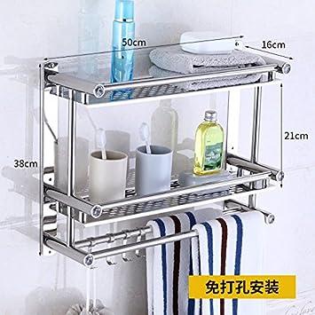 NUANZ rack Aseo, Baño Aseo WC, Sin Agujero estante de toalla, de almacenamiento