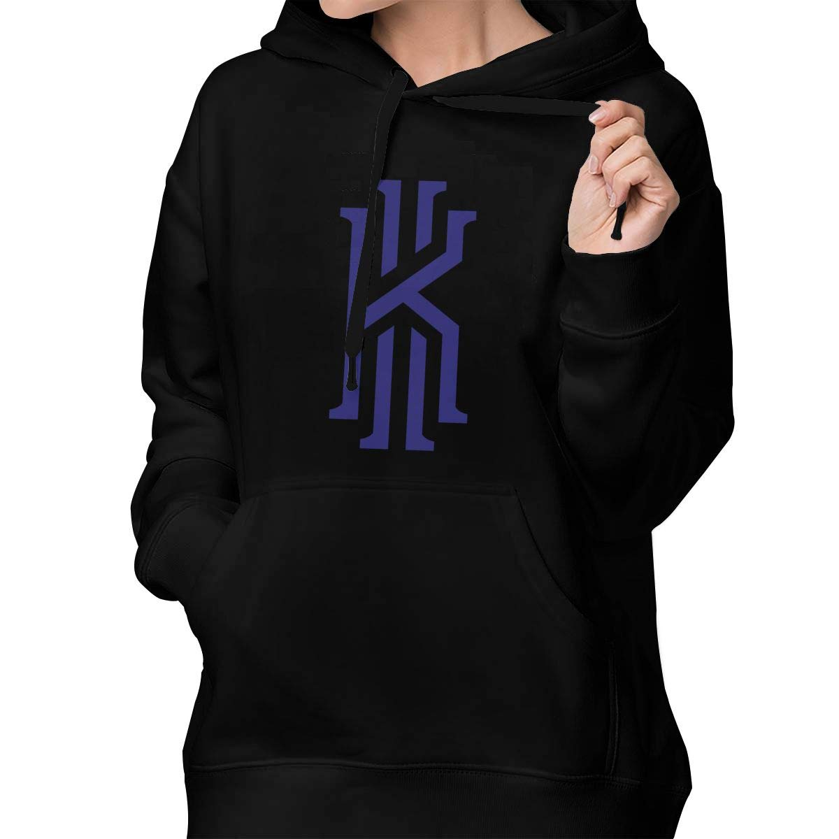 Womens Pullover Hoodie Kyrie K Irving Shirts Shirt Hooded Sweatshirt Hoodies for Women Girls Clothes Outdoor Sport Tops Black S
