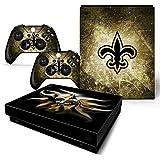 FriendlyTomato Xbox One X Console and Wireless Controller Skin Set - Football NFL - XboxOne X XOX Sticker Vinyl