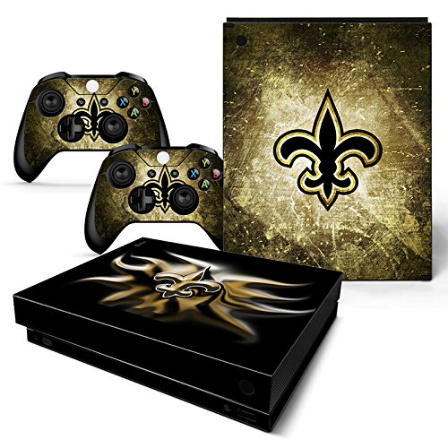 Controller Orleans Saints New (FriendlyTomato Xbox One X Console and Wireless Controller Skin Set - Football NFL - XboxOne X XOX Sticker Vinyl)