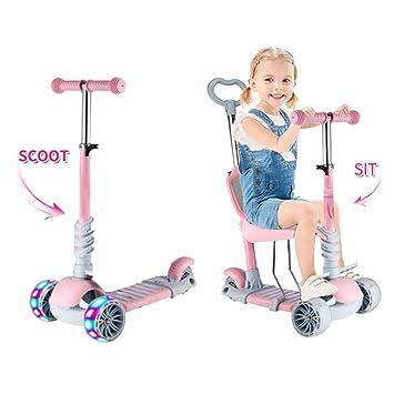 Baobë 5 en 1 niños Kick Scooter, Scooter Ajustable para niños ...