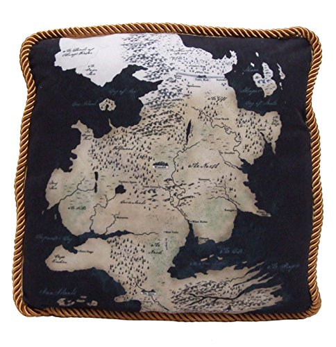 Factory Entertainment Game of Thrones Westeros Map Throw Pillow North Map