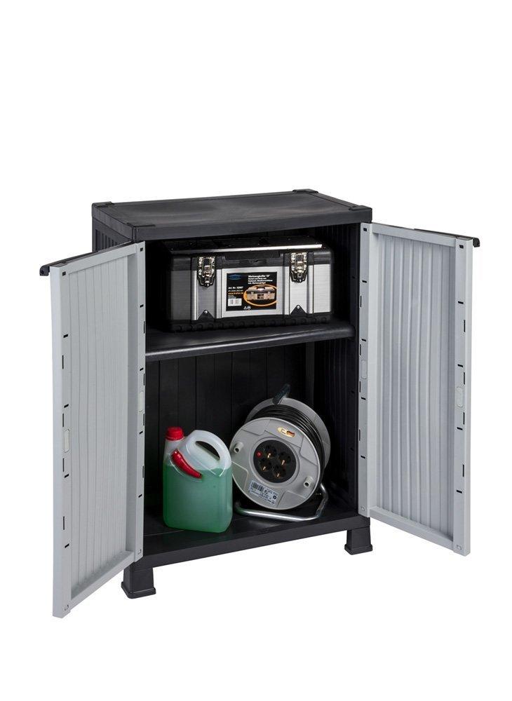 Kunststoffschrank der NOBLE-Serie mit einem verstellbaren Einlegeboden und 20kg Tragkraft - mittlere Version RAM Quality Products Ltd. 520041