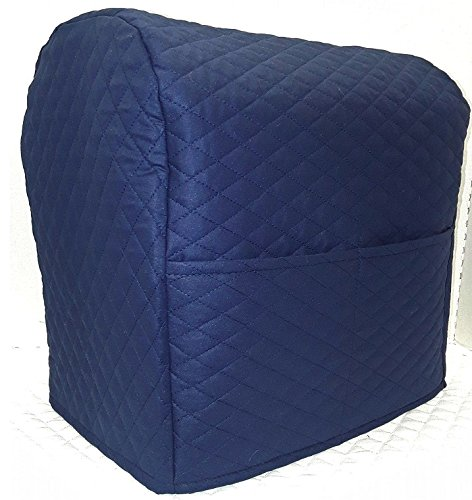Penny's Needful Things Quilted Cover Compatible with Kitchenaid Stand Mixer (Navy Blue, 3.5 qt Artisan Mini Tilt Head)