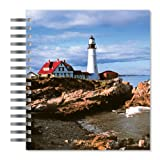 ECOeverywhere Portland Head Light Picture Photo Album, 18 Pages, Holds 72 Photos, 7.75 x 8.75 Inches, Multicolored (PA12459)