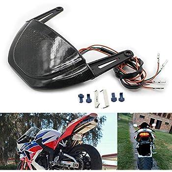 Flushmount Signals for Honda CBR600RR 2007 2008 2009 2010 2011 201 License Plate Light Fender Eliminator TST Industries Integrated in-Tail Tail Light Smoked Lens