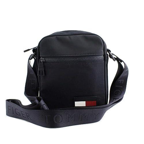 Tommy Hilfiger - Sport Mix Mini Reporter, Shoppers y bolsos de hombro Hombre, Azul