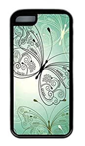 LJF phone case Green Butterfly Cases For iphone 4/4s - Summer Unique Wholesale 5c Cases