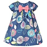 99 cent free shipping - LOKOUO infant-and-toddler-bodysuits Lokouo Little Girls Cotton Dress Short Sleeves Casual Summer Striped Printed Shirt