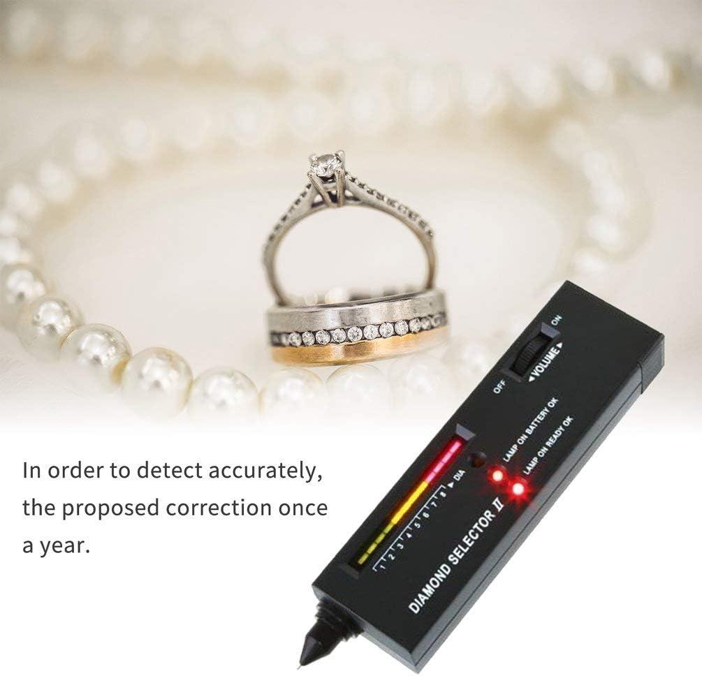 Nero Kinshops Diamante Gemme Tester Penna Strumento di Selezione Portatile di Pietre preziose Indicatore LED Strumento di Prova Gioielli affidabile accurato