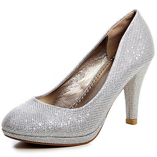 Vestir de Para Mujer Zapatos de Plateado plateado topschuhe24 Otros wU1BqWE
