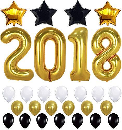 2018 Black & Gold Theme Party Decoration Large