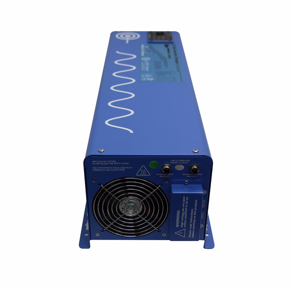 Aims Power Picoglf60w24v240vs 24 Volt Pure Sine Inverter 5000w Ultra Light High Amplifier Without Switching Mode Supply Charger 6000 Watt Low Frequency 110 220vac Split Phase 18000 Surge