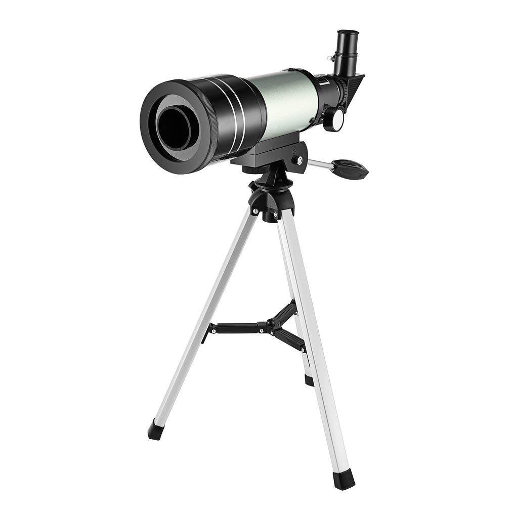Té lescope astronomique monoculaire dé butant F30070m avec tré pied (Couleur: Noir et Argent) FairytaleMM