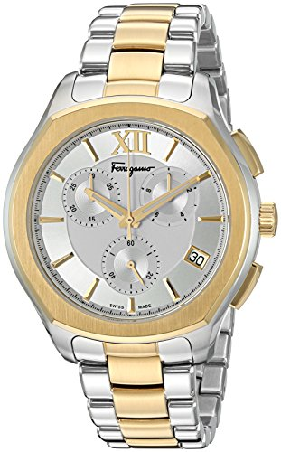 Salvatore-Ferragamo-Mens-LUNGARNO-CHRONO-Quartz-Stainless-Steel-Casual-Watch-ColorTwo-Tone-Model-FLF980015