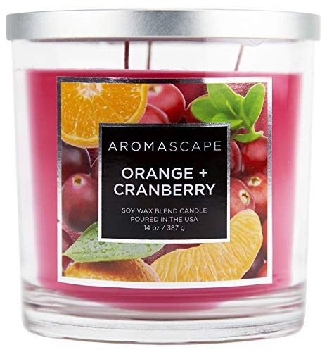 Aromascape 3-Wick Scented Jar Candle, Orange & ()