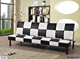 Beverly Furniture F3103 Futon Convertible Sofa, Black/White Review