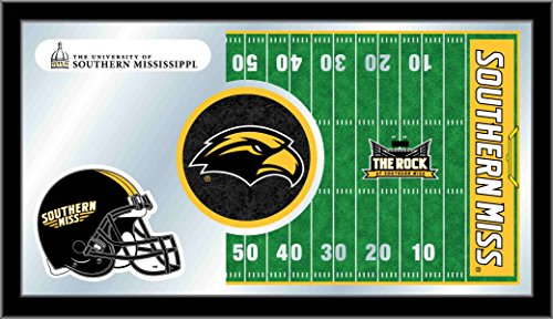 NCAA Southern Mississippi Golden Eagles 15 x 26-Inch Football Mirror (Southern Framed Mississippi Eagles Golden)