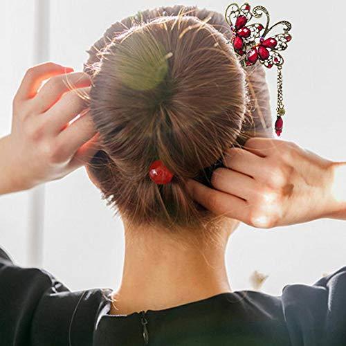 Bonarty Klassische Chinesische Traditionelle Haarst/äbchen Vintage Tassel Hair Stick