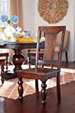 Cheap Pair of Colonial Wood Seat Dining Chair