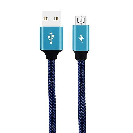 Longsw 30cm 3a Cargador Rapido De Cable Trenzado De Cable Micro USB De Banco De Potencia Para Samsung Galaxy S7 S6 Xiaomi Huawei Los Telefonos ...