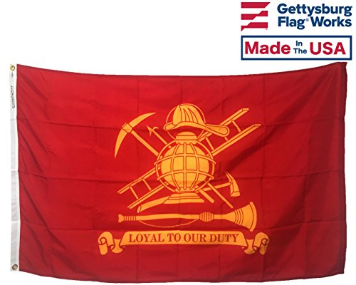 3x5' Firefighter (Loyal) All Weather Nylon for Outdoor Made In USA ()
