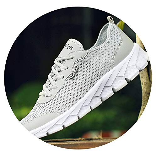 sensitives 2019 Men Casual Shoes Breathable Ultralight Comfortable Outdoor Walking Footwear Trainers,580Light-Gray,9