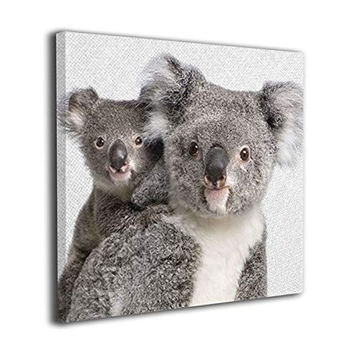 - WONDER 4 Koala, Bear Print, Baby Animal Modern Wall Decor for Living Room Bedroom Bathroom Canvas Wall Art Stretched and Ready to Hang