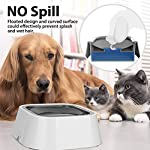 Vitalumos Dog Water Bowl, Splash-Free Pet Bowl with Antibacterial Material, Vehicle Carried Water Bowl for Dogs/Cats/Pets