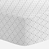 Carousel Designs French Gray Lattice Dots Crib Sheet - Organic 100% Cotton Fitted Crib Sheet - Made in the USA