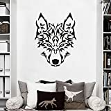 MoharWall Wolf Head Wall Decals for Living Room Animal Vinyl Wall Nursery Art Sticker Decor