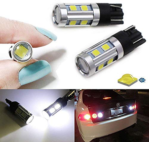 iJDMTOY (2) 360° Xenon White 3W CREE w/ 8-SMD 168 194 2825 912 921 T10 LED Bulbs For Backup Reverse Lights or Parking Position Lights
