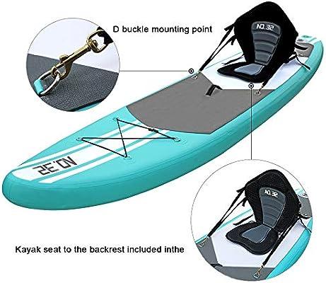 Tabla Hinchable de Paddle Surf + SUP Paddle Remo de Ajustable ...