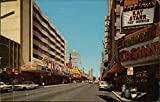 Casino Center, Fremont Street, Downtown Las Vegas, Nevada Original Vintage Postcard