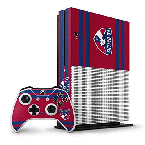 FC Dallas Xbox One S Vertical Bundle Skin - FC Dallas Scarf Vinyl Decal Skin For Your Xbox One S Vertical Bundle by Skinit