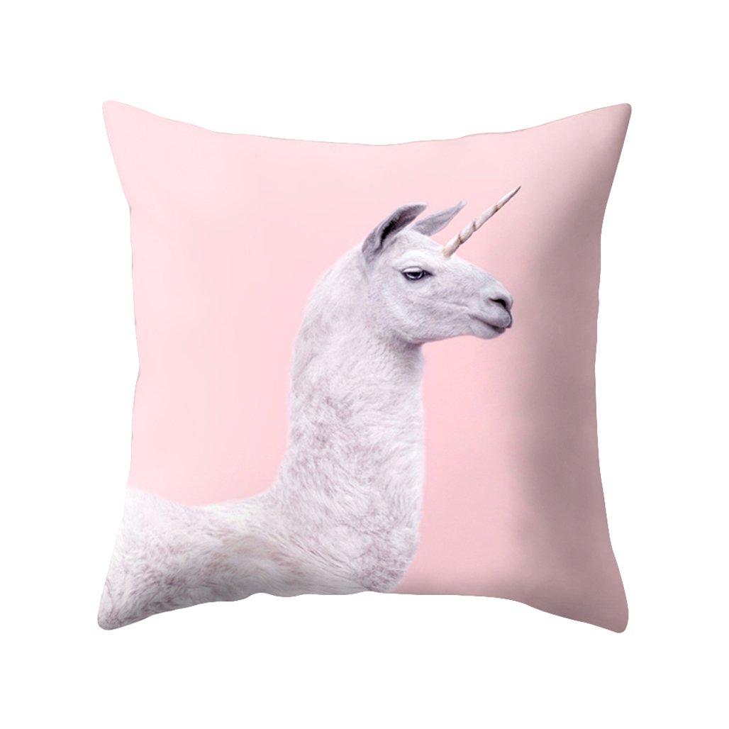 Sukisuki Flamingo girafes Taie d'oreiller Housse de coussin Maison Canapé Taie d'oreiller 45cmx45cm, #2, Taille unique