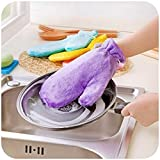 Best Home Decor Camping Sporks - Miki Magic Waterproof Deoil Dishwashing Cleanning Gloves Natural Review