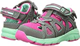 Stride Rite Girls' M2P Ryder Sandal, Grey/Pink, 9 Medium US Toddler