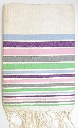 Rivera lima- 100% algodón Fouta toalla de baño, 100 cm x 200 cm