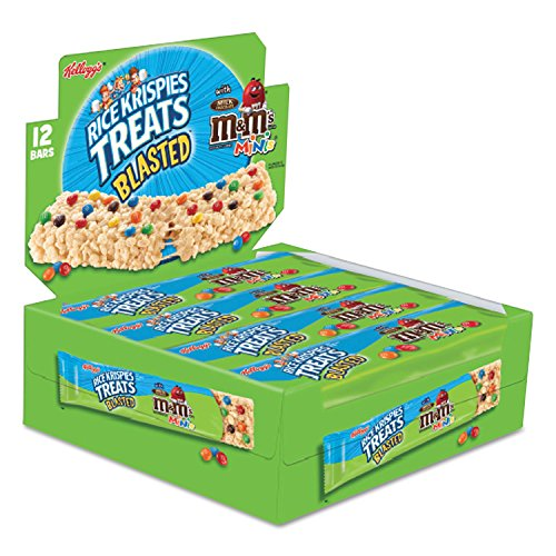 Halloween Rice Crispy Treat Recipes (Rice Krispies Treats Blasted M&M'S Minis Square with Milk Chocolate Candies. 12 - 2.1 Oz)
