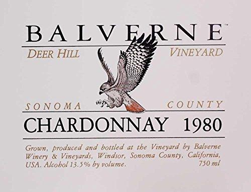 Balverne Wine Label - Chardonnay 1980 Open Edition