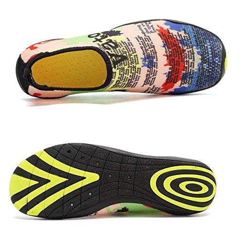 Tcife Männer Frauen Barfuß Wasser Aqua Schuhe Haut flexible Socken für Schwimmen, Wandern, Garten, Park, Fahren, Yoga, See, Strand Gelb